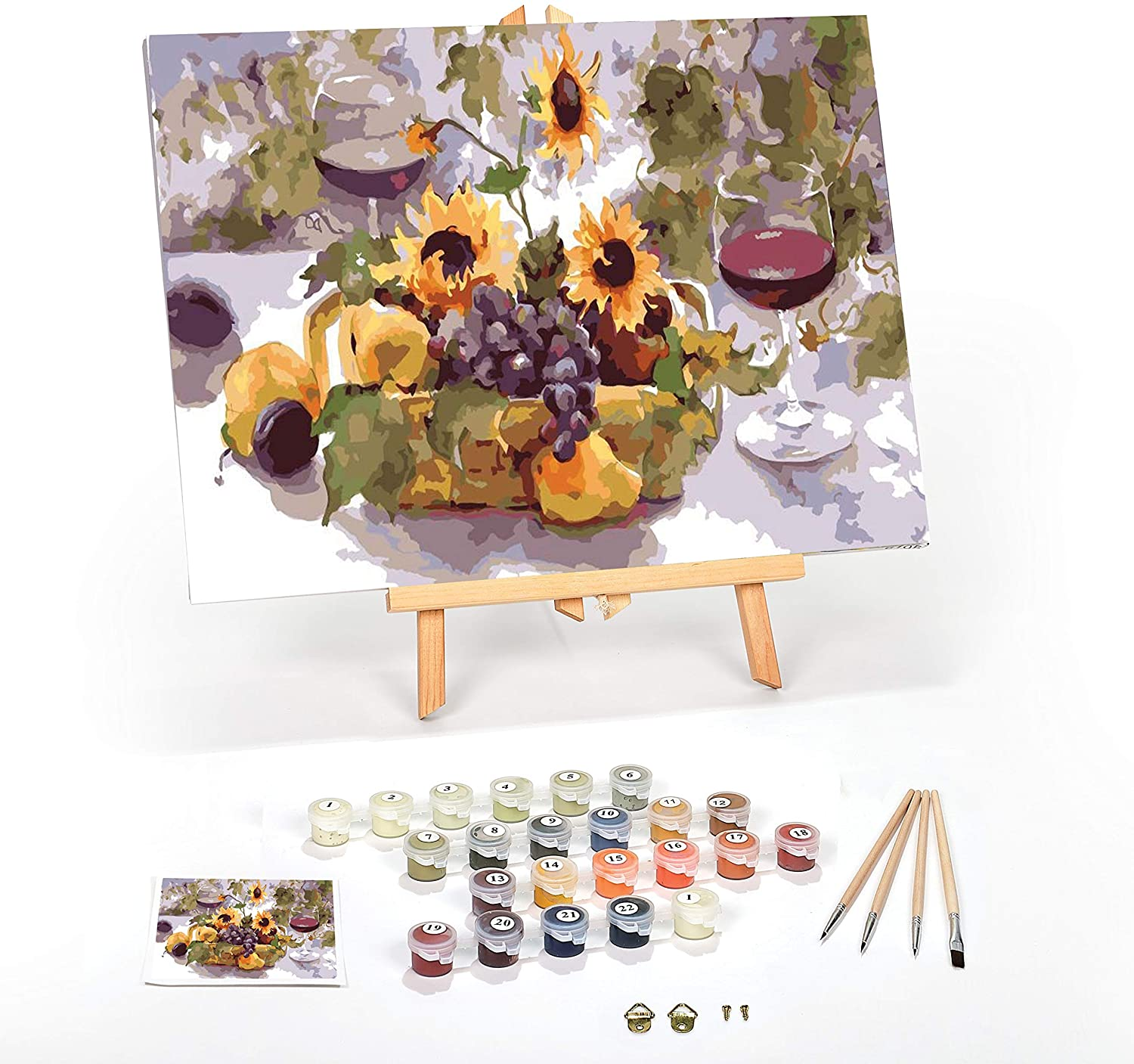Paint by Numbers for Adults: Beginner to Advanced Number Painting Kit - Fun DIY Adult Arts and Crafts Projects - Kits Include 16 x 20 Inch No Wrinkle Canvas (Summer Wine, 12 x 16 Framed)