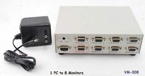 ZCH NIFER Supplies for 8Way HD15 VGA Monitor Video Splitter/Multiplier VM-008