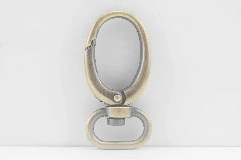 Anti Bronze, 3/4 inch/19mm Zinc Alloy Purse Hook Push gate snap Hook for Strap Handbag Purse Bag Key Ring DIY Craft, 6 Pieces per lot, CK13
