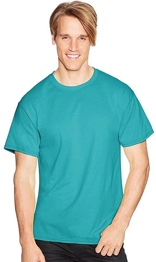 Hanes ComfortBlend EcoSmart Crewneck Mens T-Shirt_Teal_L