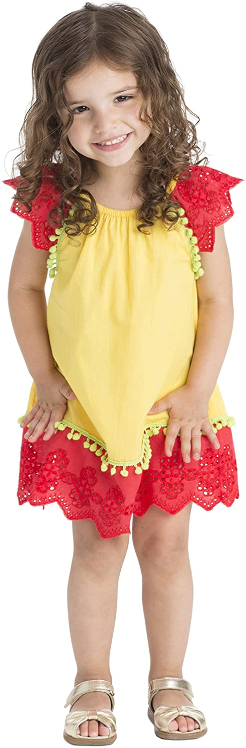 Masala Baby Baby Girls' Flutter Dress Eyelet