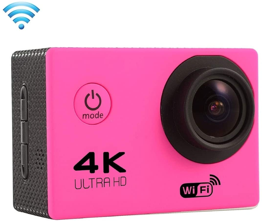 Wyanlin F60 2.0 inch Screen 4K 170 Degrees Wide Angle WiFi Sport Action Camera Camcorder with Waterproof Housing Case, Support 64GB Micro SD Card(Black) Wyanlin (Color : Magenta)