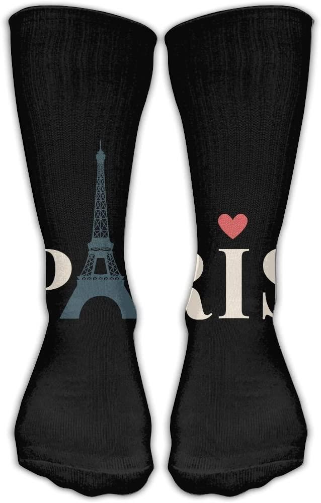 Pin-1 Eiffel Tower Athletic Socks Novelty Running Long Sock Cotton Socks