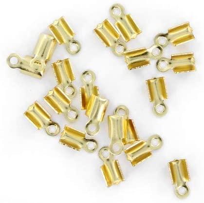 La Fourmi Set of 20 Lace Clips, Gold, 8 x 3 mm