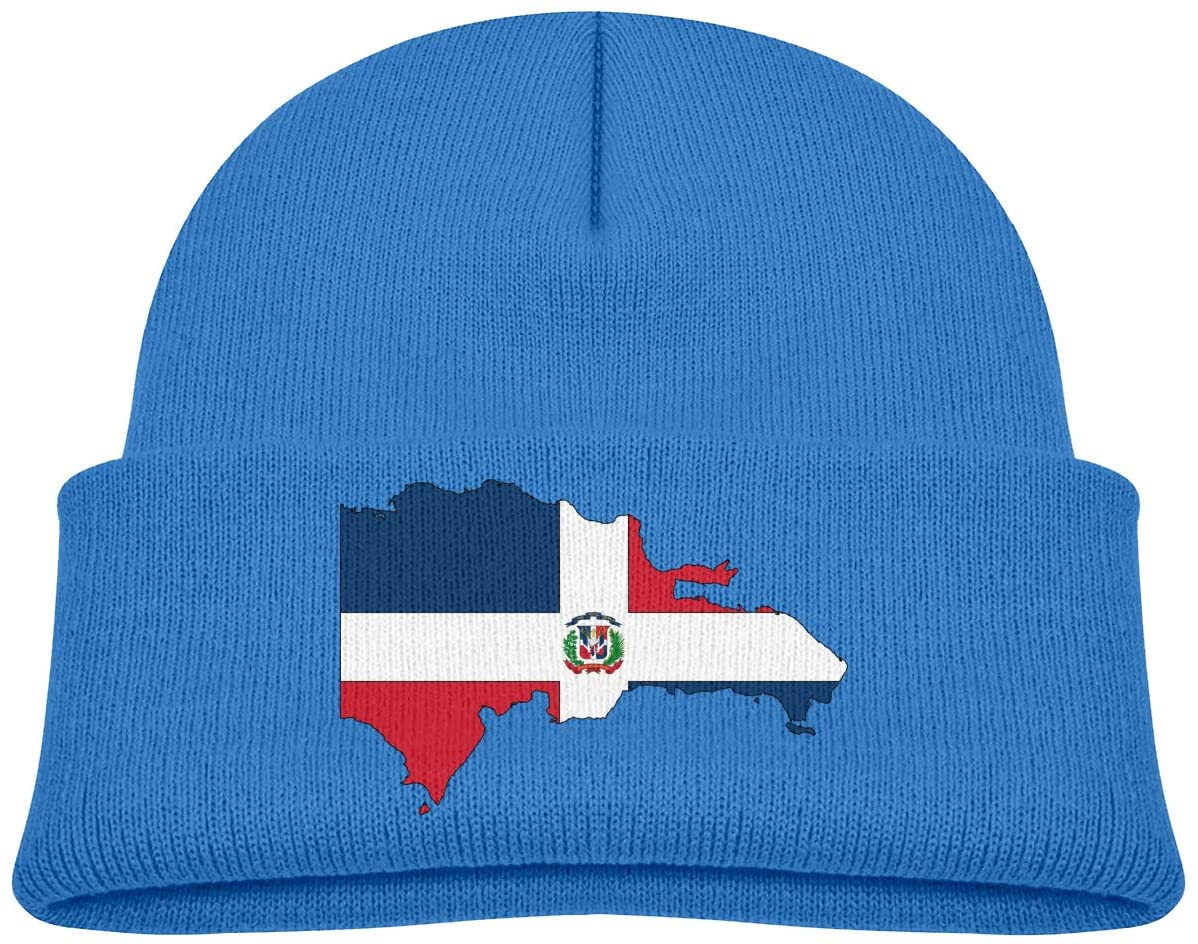 Dominican Republic Map Flag A Cute and Thick Stretch Cap Suitable for Children's Winter Warm Baby Cap