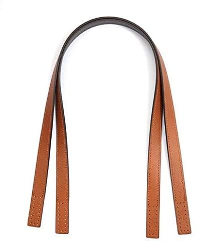 "24"" byhands Boston Series Saffiano Pattern Genuine Leather Purse Handles, Shoulder Bag Strap, Hazelnut (30-6102)"