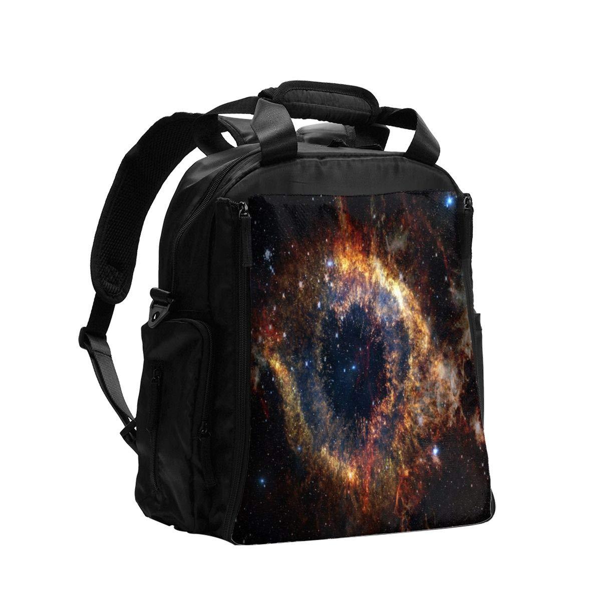 Diaper Bag Backpack Nebulas Star Galaxy Space Fearless Baby Diaper Bag Tote Travel Waterproof Dad Girls