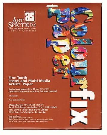 Art Spectrum Colourfix Paper Rainbow Packs Warm Tones Pack of 10