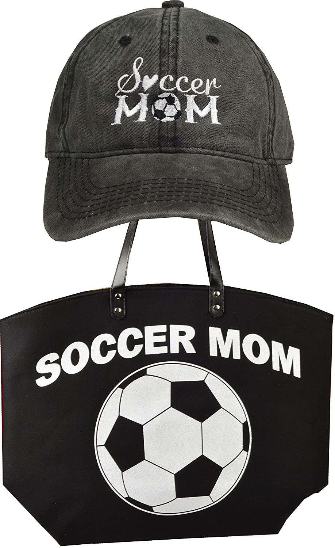 Soccer Tote Bag for Woman, Soccer Mom, Women's Trucker Hat, Soccer Mom Tote, Soccer Bags for Moms, Soccer Cap for Women, Soccer Mom Gifts Black