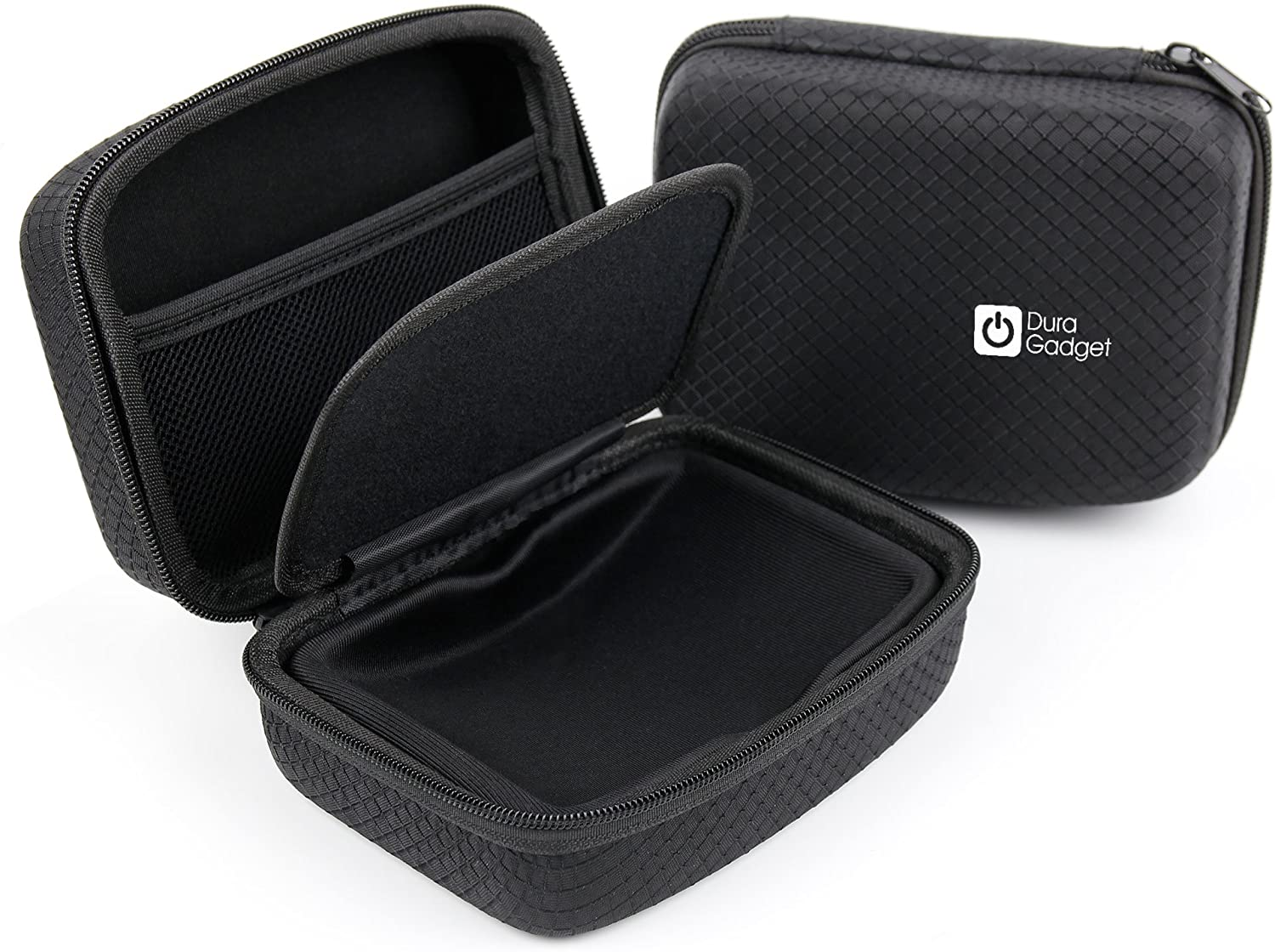 DURAGADGET Jet Black Hard EVA Carry Case - Compatible with The Kaiser Baas X100