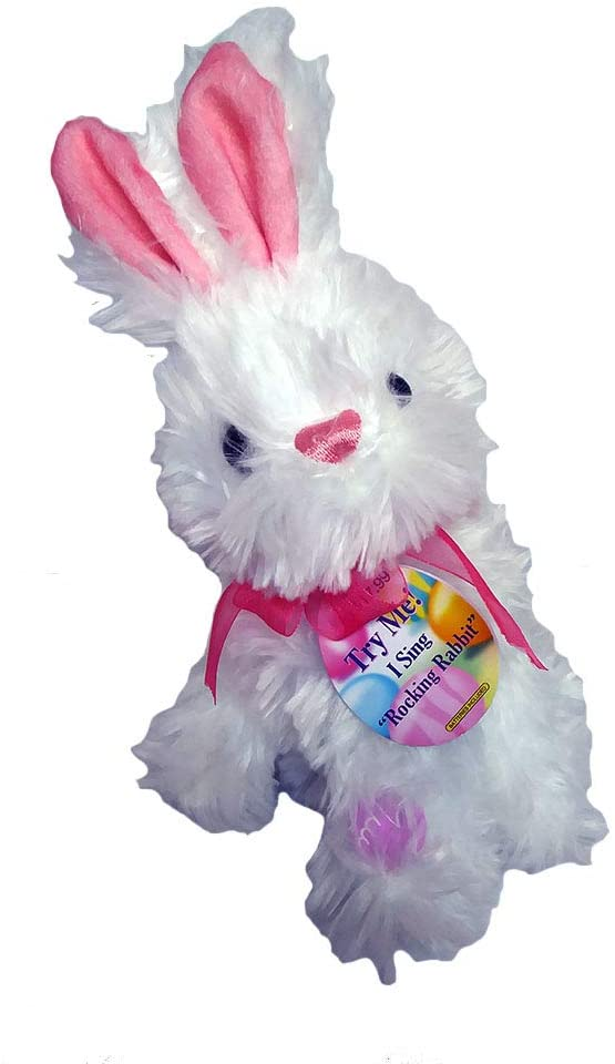 Plush Animated Dancing Bunny Rabbit Stuffed Animal - Sings Rockin Rabbit
