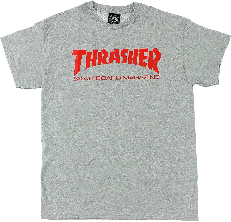 Thrasher Skate Mag Short Sleeve XL-Heather/Red T-Shirt