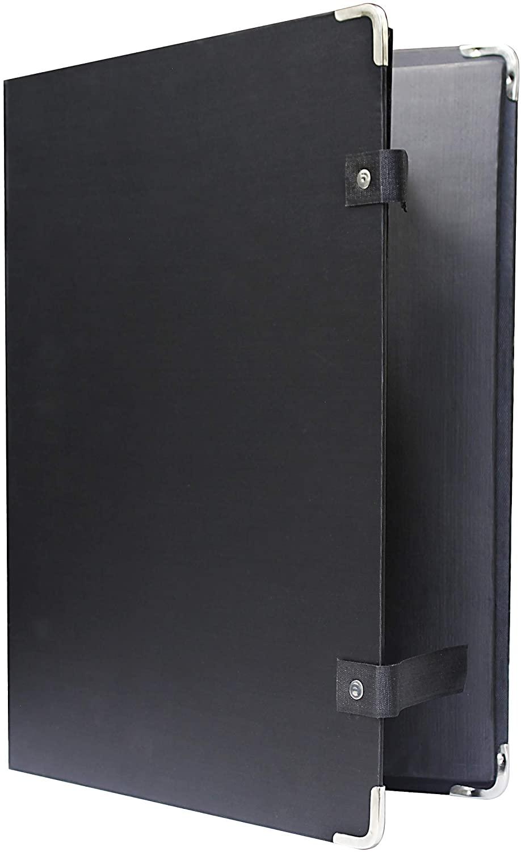 VViViD Black Portable Classic-Style Flat Cachet Portfolio (12