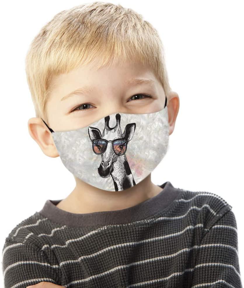 Funny Face Macks, Novelty Animal Characters Half Face Anti-Dust Face Màsc Comfortable Mouth Reusable Bandanas Adult Children