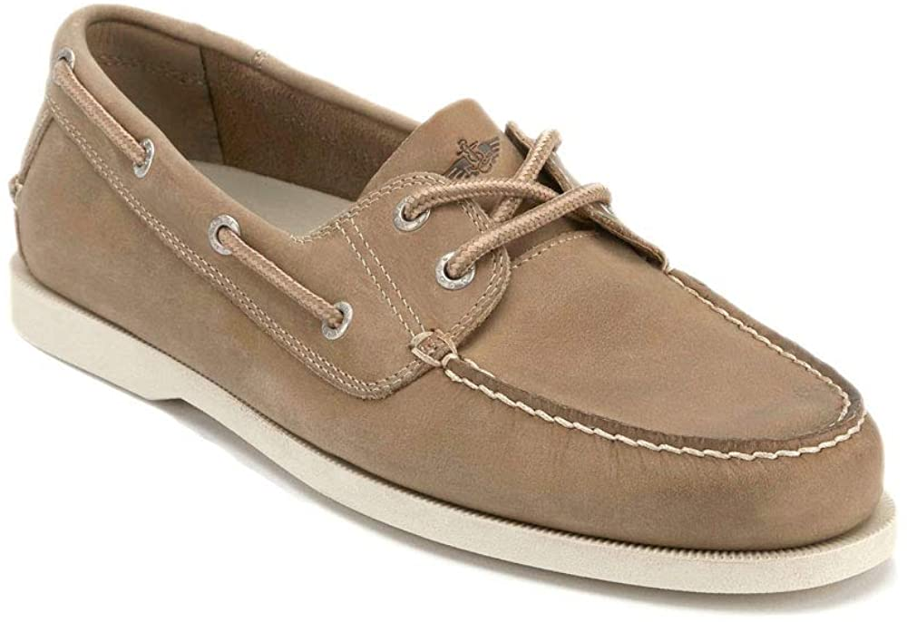 Dockers Mens Vargas Leather Casual Classic Boat Shoe, Taupe, 11 M