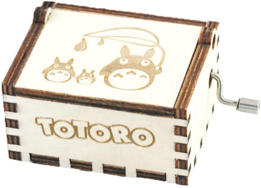 Youtang Totoro Music Box Wooden Hand Crank Musical Box My Neighbor Totoro Carved Wooden Music Boxes,Play The Wind Forest from Totoro (image2)