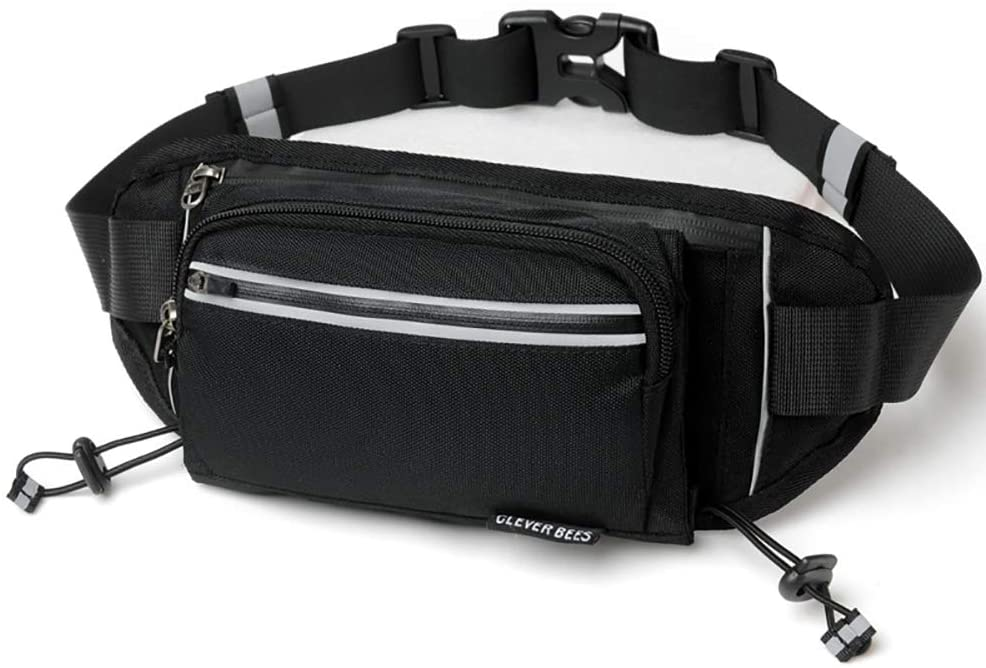 US-DXB Multifunctional, Sports Waist Bag, Fitness Belt, Hiking Fitness Runner's Belt Waist Bag, Suitable for All Mobile Phones, Ladies and Men's Waist Bags