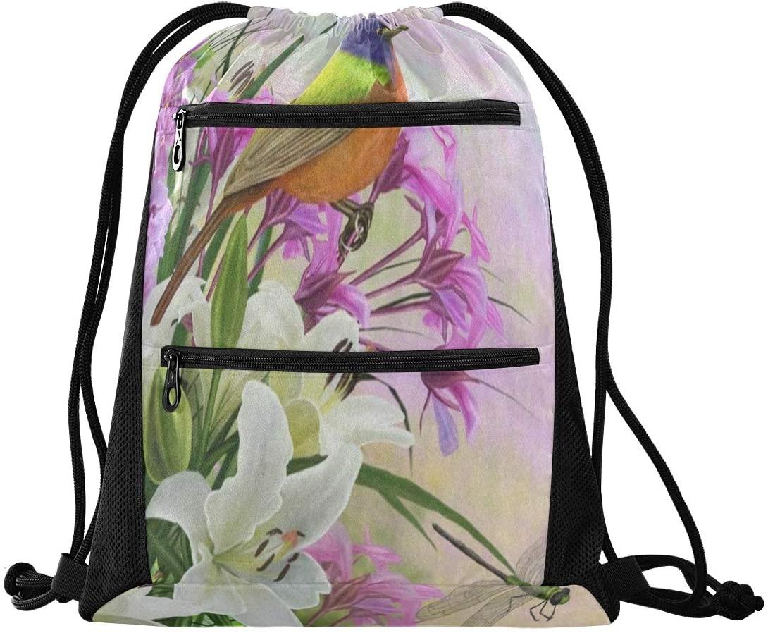 N /A Drawstring Backpack Bag Hipster Kitten Cat Animal Color Gym Bag, Draw String Bags, Cinch Sack