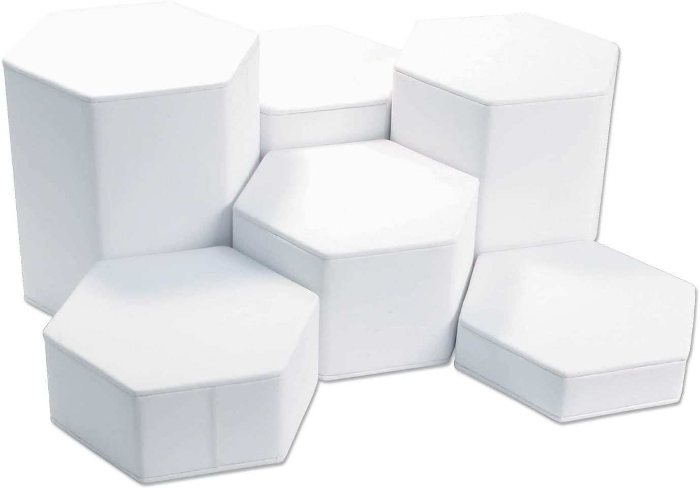 Riser Set 6 Piece White Jewelry Display