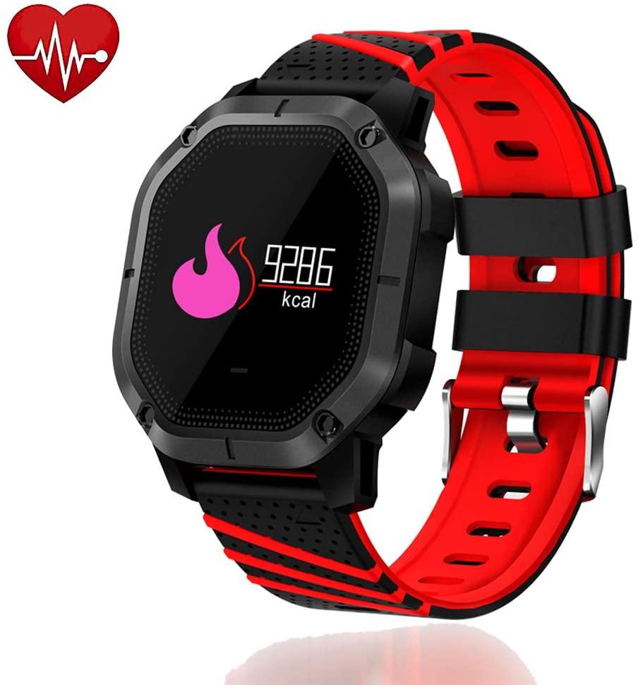 UsHigh Smart Watch Heart Rate Blood Pressure Activity Tracker Sleep Monitor,Pedometer,Calorie Counter,IP68 Waterproof Fit Kids,Women,Men Fitness Bracelet