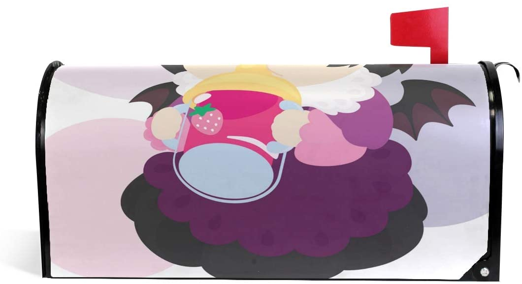 Lianmei Mailbox Covers Magnetic Baby Vampire Vector Mailbox Cover, Mailbox Wraps Post Letter Box Cover Standard Size 25