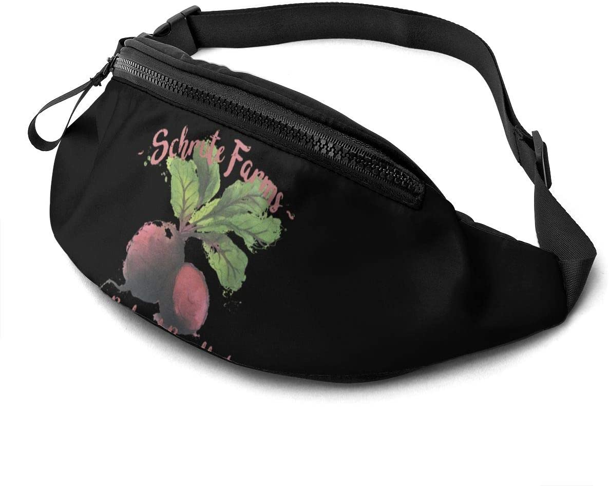 Liuqidong The Office-Schrute Farms Waist Pack Bag Fanny Pack for Men&Women Hip Bum Bag with Adjustable Strap for Outdoors Workout Traveling Casual Running Hiking Cycling