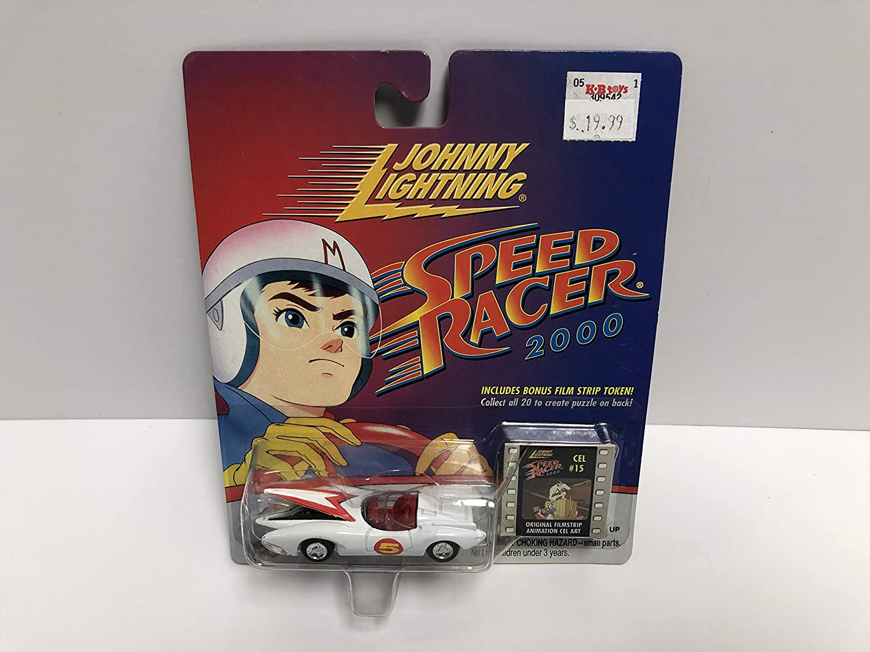 Speed Racer 2000 MACH 5 Johnny Lightning Collector Edition diecast with Film Strip Token