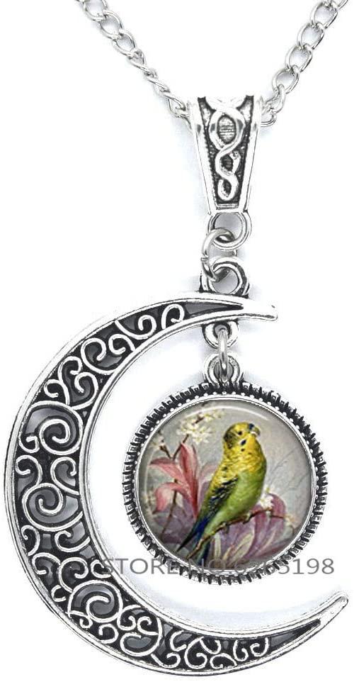 Parakeet Pendant. Parakeet Necklace Parrot Jewelry Bird Lover Gift Bird Jewelry Nature Lover Gift,N283