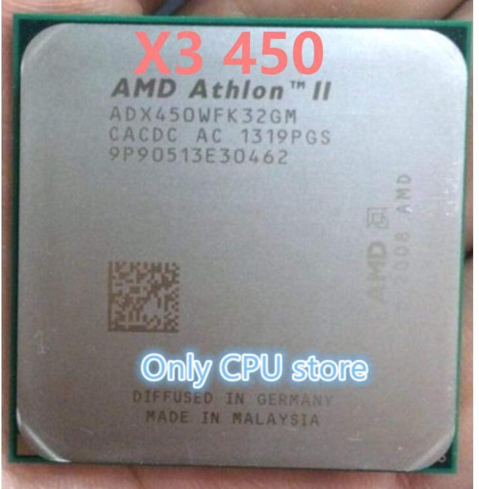 AMD Athlon II X3 450 3.2GHz Socket AM3 938-pin Processor Dual-Core 1.5M Cache 45nm CPU Scrattered Pieces