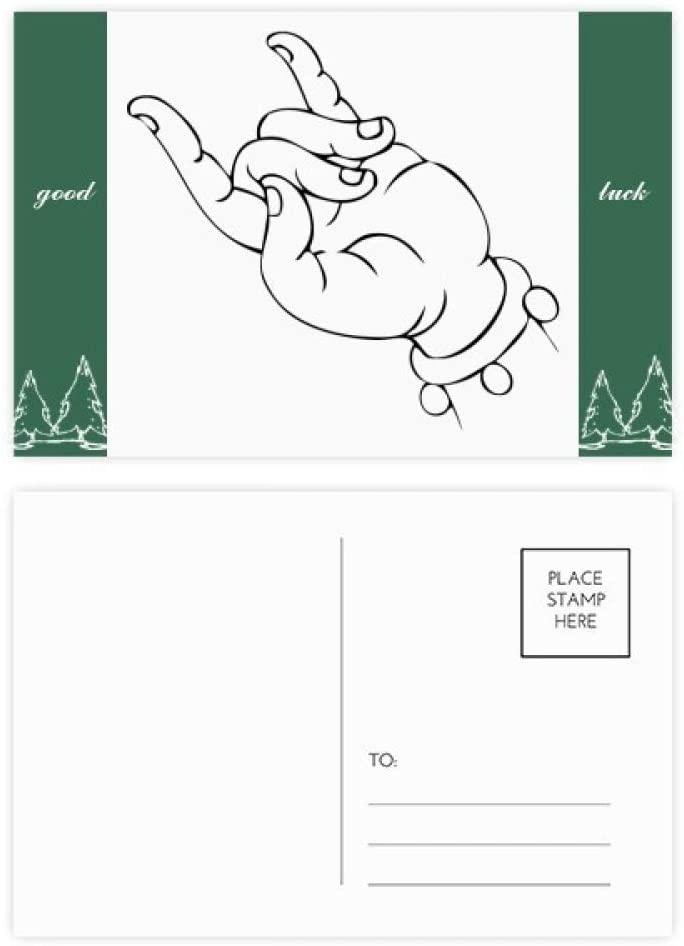Buddhism Hand Simple Illustration Pattern Good Luck Postcard Set Card Mailing Side 20pcs