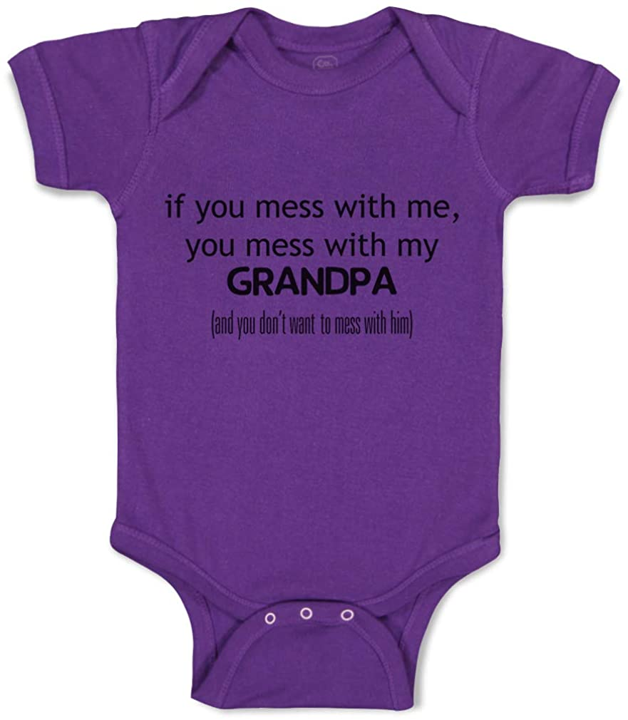 Custom Baby Bodysuit You Mess with Me Grandpa Grandfather Boy & Girl Clothes