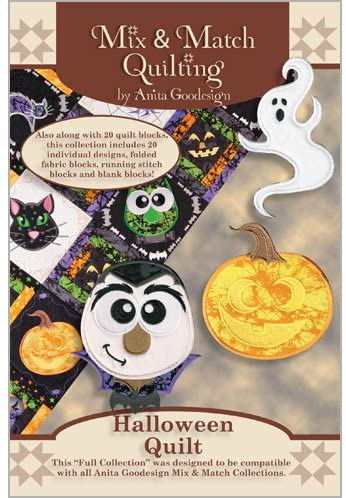 Anita Goodesign - Halloween Quilt ~ Mix and Match Quilting ~ Embroidery Designs