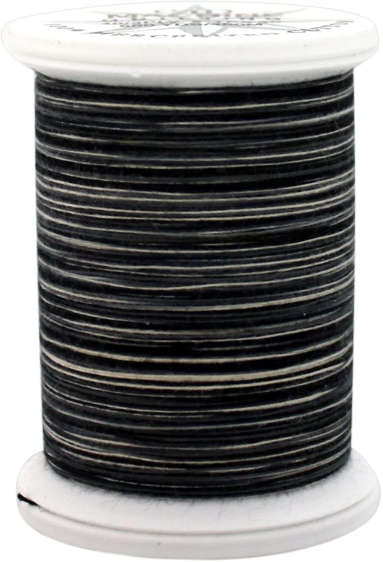 YLI 24450-05V 3-Ply 40wt T-40 Cotton Quilting Variegated Thread, 500 yd, White to Black