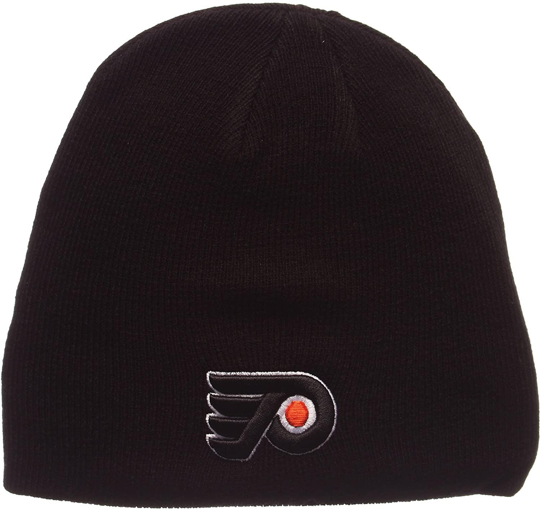 American Needle Philadelphia Flyers Classic Black Skull Cap - NHL Cuffless Winter Knit Beanie Toque Hat
