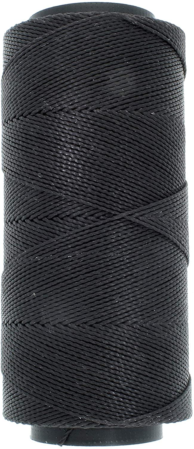 The Beadsmith Knot It Waxed Polyester Cord, 1mm Diameter, 144 Meter Spool (472 feet) (Black)