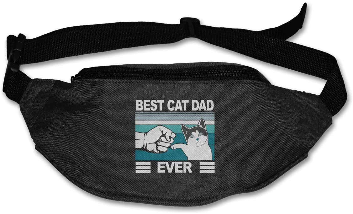 Liuqidong Best Cat Dad Waist Pack Bag Fanny Pack for Men&Women Hip Bum Bag with Adjustable Strap for Outdoors Workout Traveling Casual Running Hiking Cycling