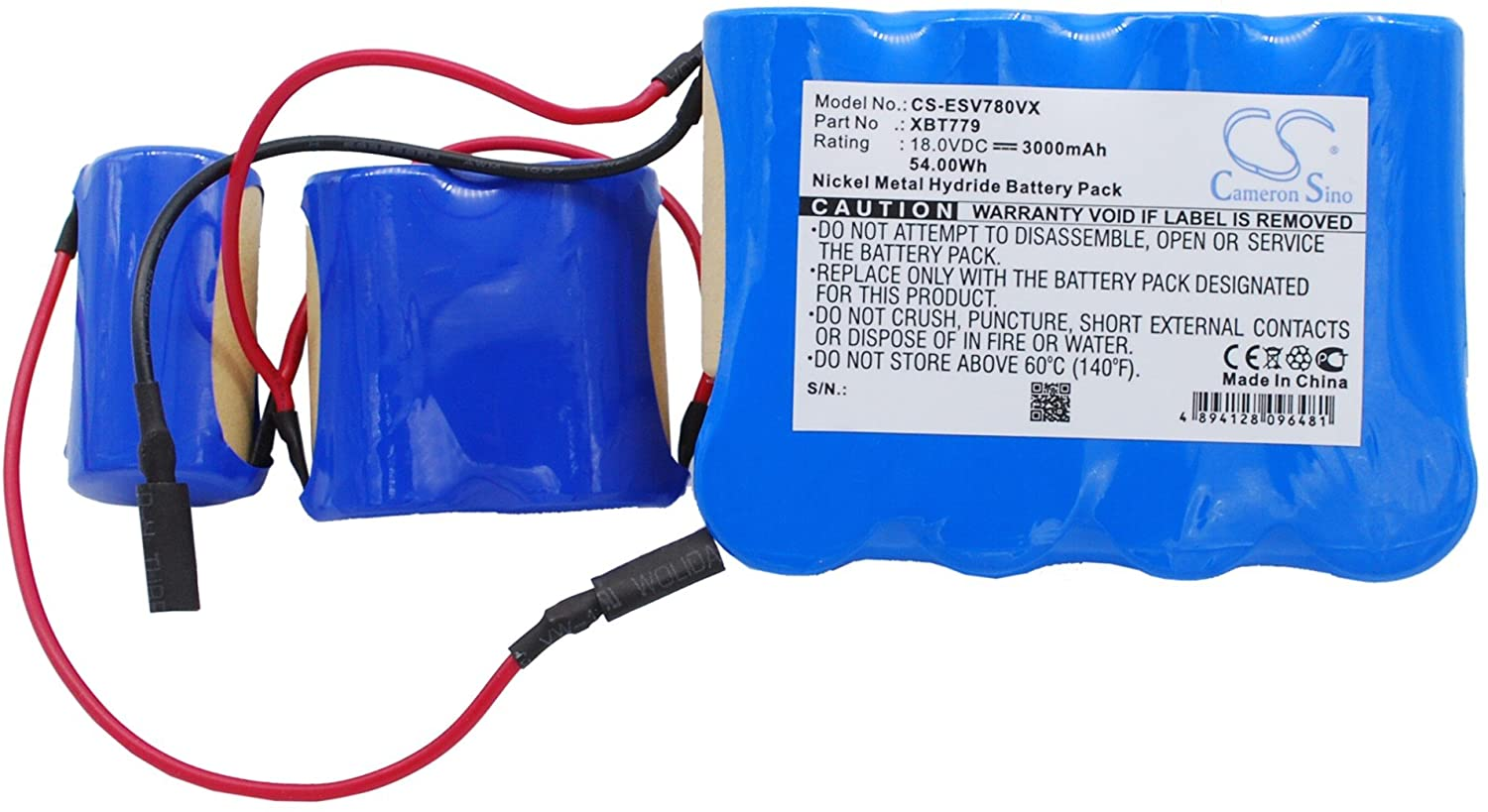 3000mAh Replacement for Euro Pro SV780, VX33 Battery, P/N XBT779