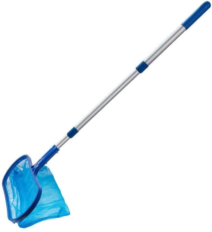 CSRTONI Pool Skimmer Net,Professional Leaf Rake Mesh Frame Net Skimmer Cleaner Swimming Pool Spa Tool New Swimming Pool Cleaning net(Blue)