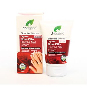 Dr Organic Rose Otto Hand & Nail Cream 125ml (Intensive 12 Hour Rescue) Good Quality Fast Shipping