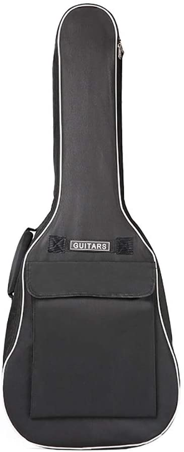 Qiupei Guitar Bag Acoustic Guitar Bag 8mm Thick Sponge 41 Inch Double Shoulder Instrument Bag Classical Guitar Gig Bag for Travelling for Home Storage Travel (Color : Black, Size : 41 inch)