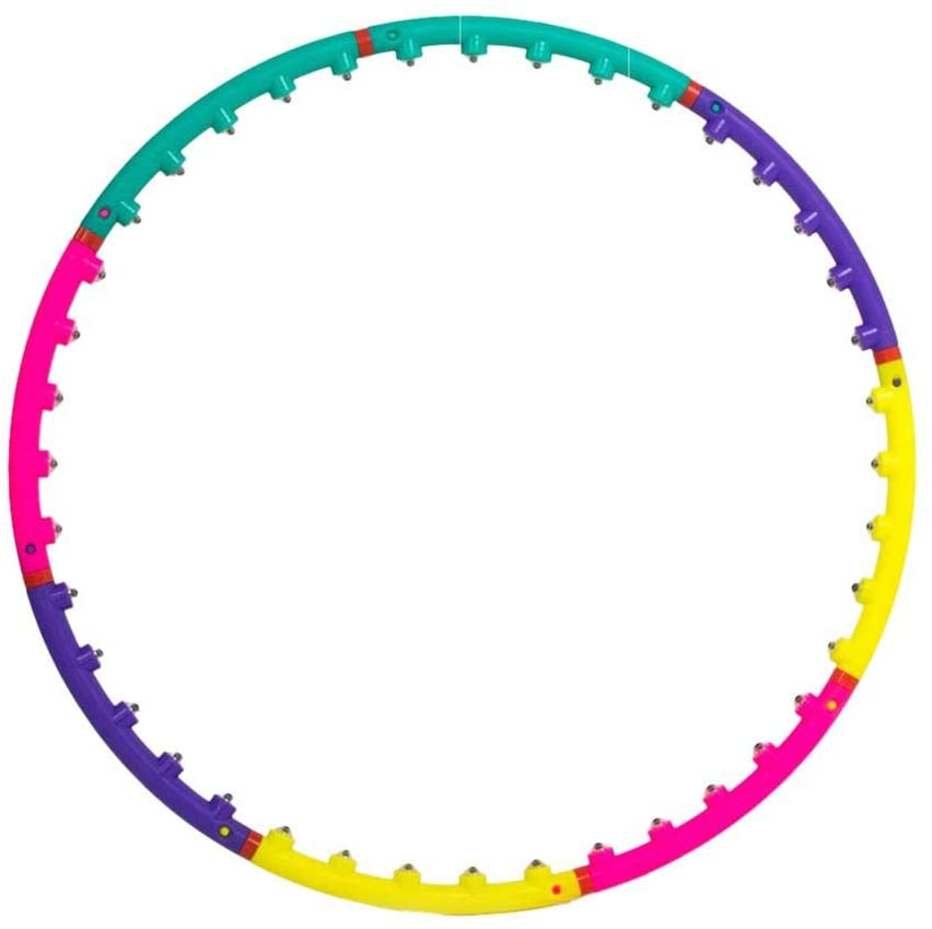 Grehod Fitness Hula Circle Ring Hoop Removable Thin Waist Tummy Workout Body Burn Fat Lose Weight Loss Exercise Ring with Home Entertainment
