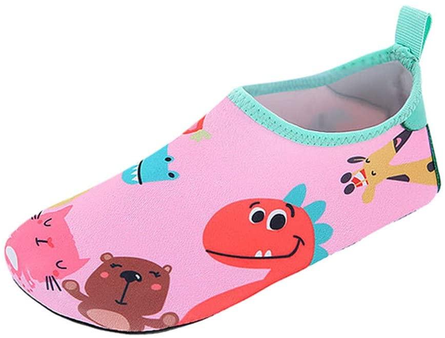heavKin Boy's Girl's Quick Drying Water Shoes Dinosaur Print Swim Waterproof Beach Sandals,for 1-8Years Kids Baby
