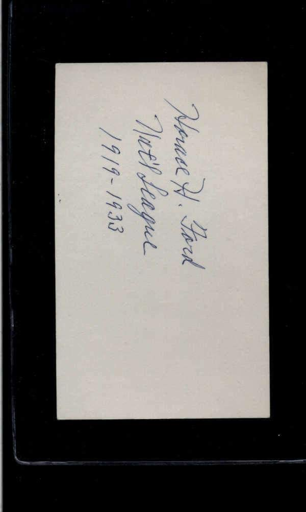 Signed Index Card Horace Ford Authentic Autograph Signature Az3344 - MLB Cut Signatures