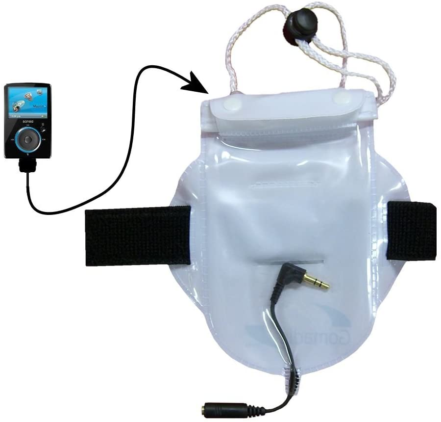 Watertight Workout Bag for Protecting The Sandisk Sansa Fuze from Water Dust and Sand