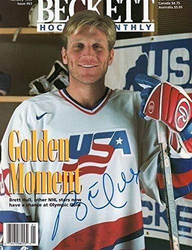 Brett Hull Autographed Signed * **AutographedUsaHockeyBeckettMagazineSt. LouisBluesCOA*