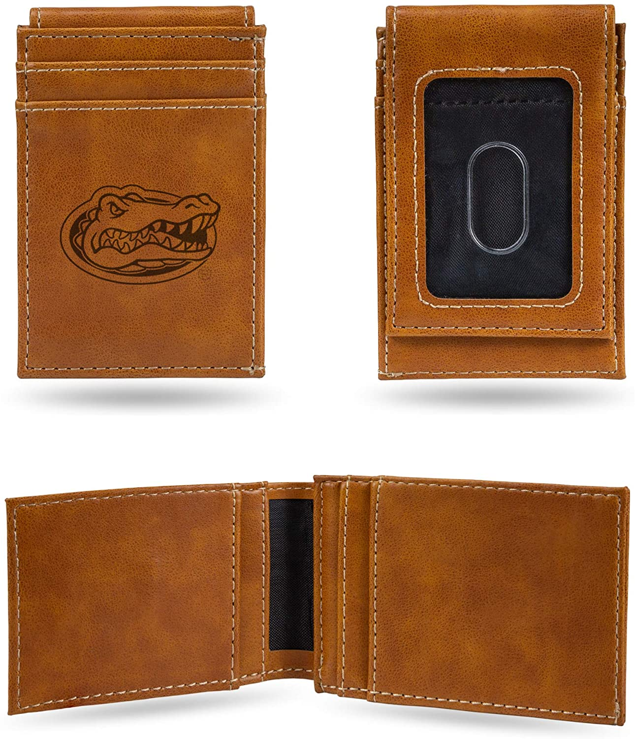 NCAA Rico Industries Laser Engraved Front Pocket Wallet, Florida Gators