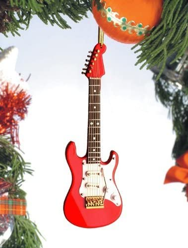 Electric Guitar-Red & White by Broadway Gifts