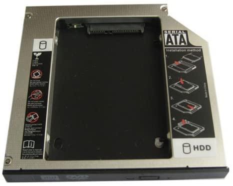 Generic 2nd Sata Hard Drive Ssd Caddy Adapter for Dell Latitude E5430 E5510 E5530