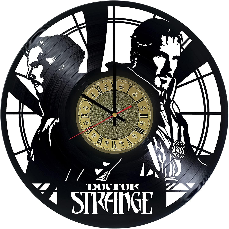 Doctor Strange Vinyl Wall Clock Marvel Comics Unique Gifts Living Room Home Decor