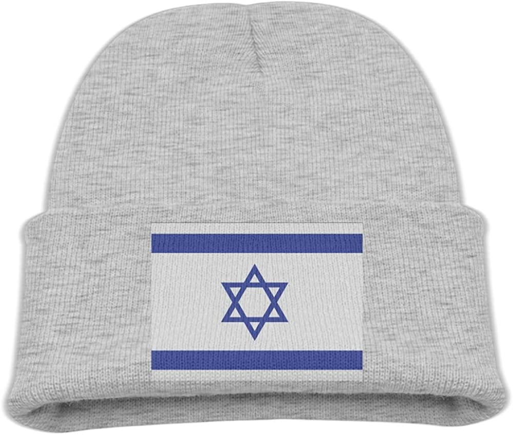 ZWZ Israeli Flag Kid's Hats Winter Funny Soft Knit Beanie Cap Children Unisex